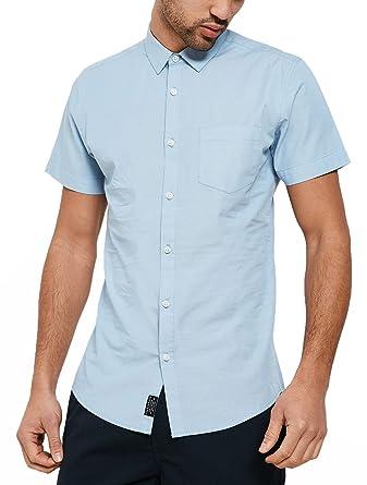 60f7114ad464 Threadbare Casual Simon Short Sleeve Cotton Print Shirt: Amazon.co ...