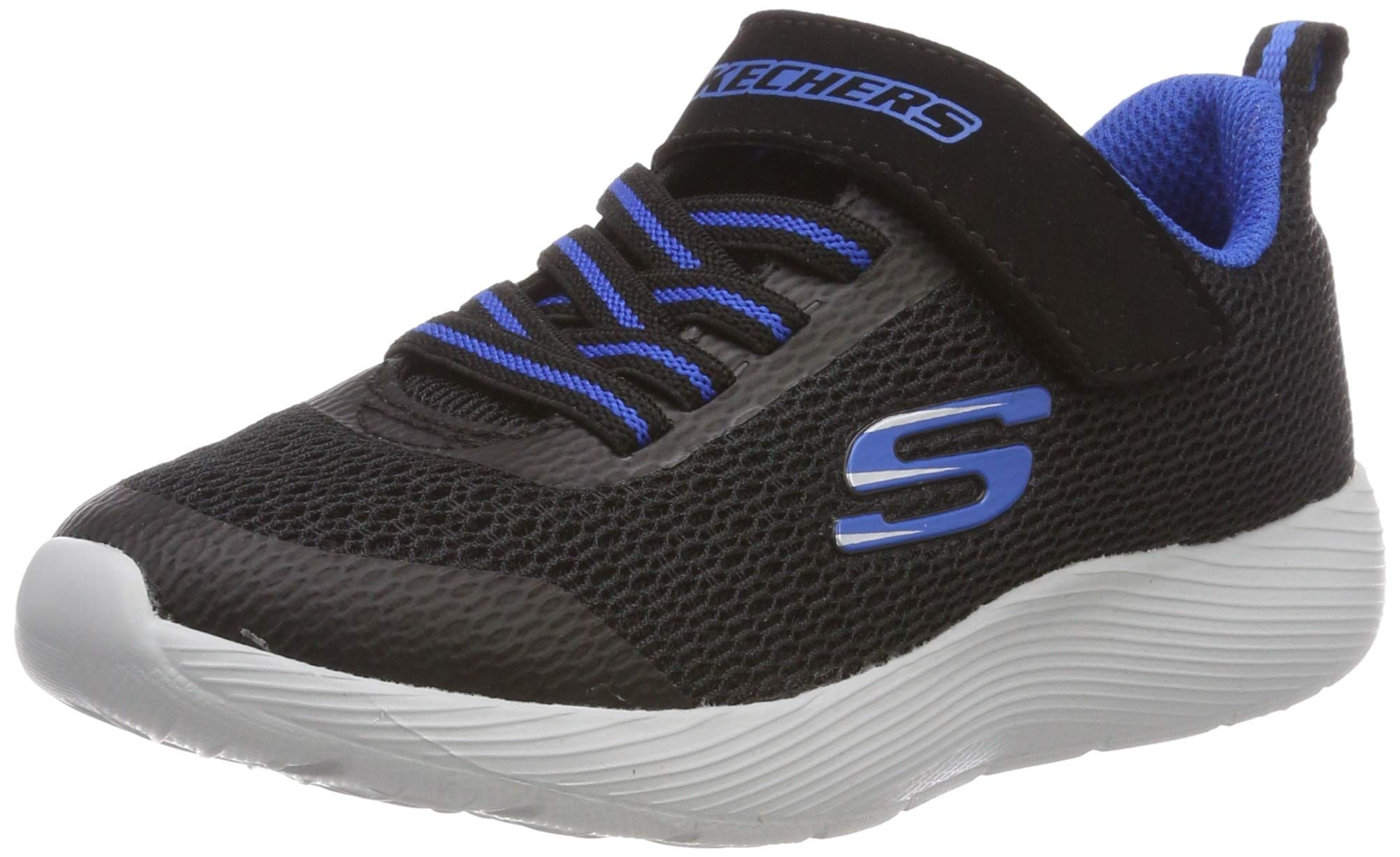 Skechers Kids Boys' DYNA-LITE Sneaker, Black/Royal, 5.5 Medium US Big Kid