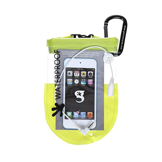 cab4945263 Image Unavailable. Image not available for. Color  geckobrands Waterproof  iPhone iPod MP3 Dry Bag- ...
