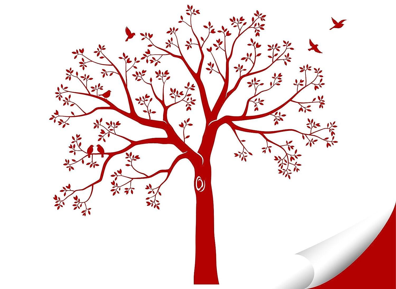 Grandora W5483 Wandtattoo XXL Baum I weiß weiß weiß (BxH) 165 x 160 cm I Flur Wohnzimmer Aufkleber Wandaufkleber selbstklebend Wandsticker B0753H6T1Z Wandtattoos & Wandbilder b25625