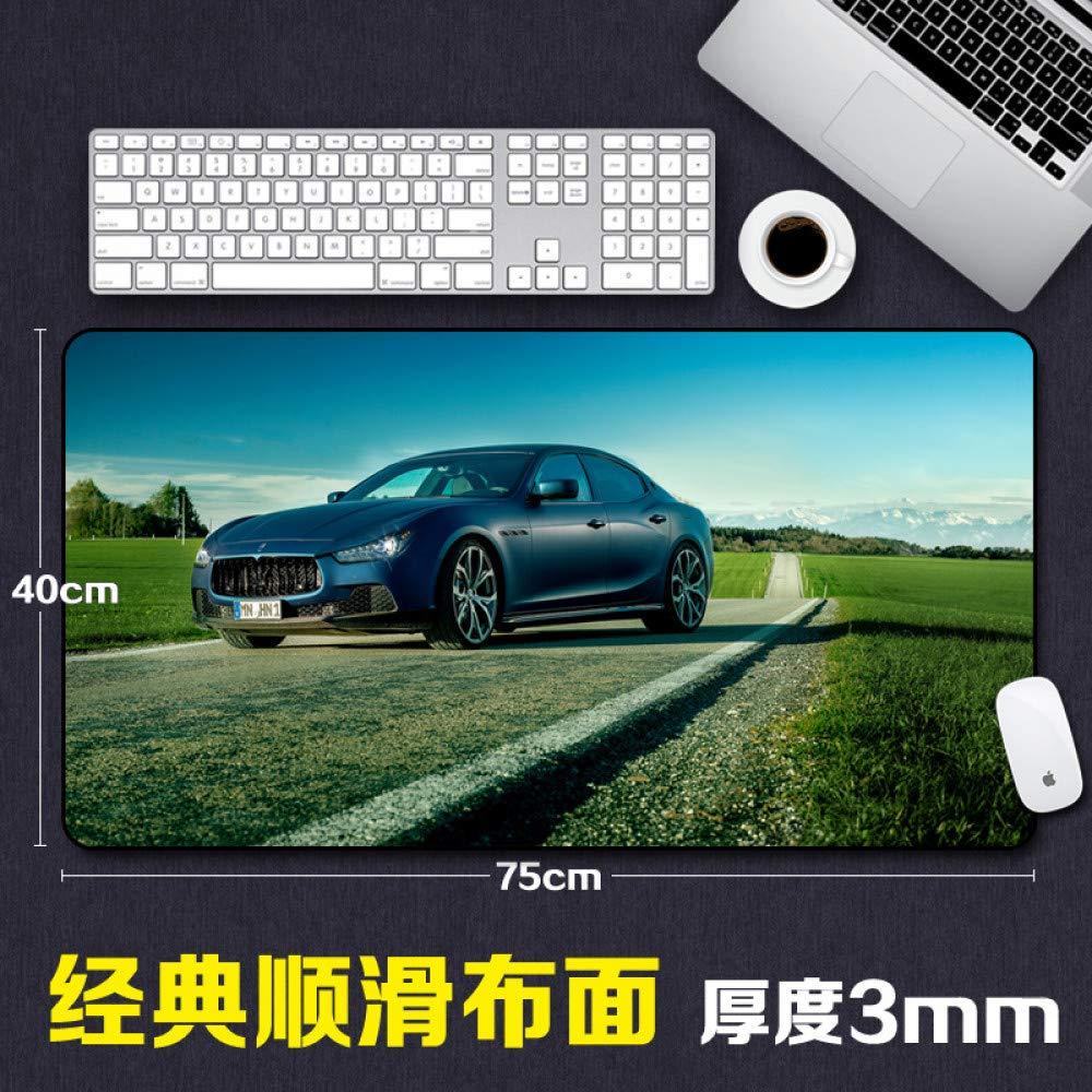 Tzsysb Cojín de ratón del patrón del coche el que bloquea el coche tamaño grande Espesar el estera del teclado del juego creativo ce99df