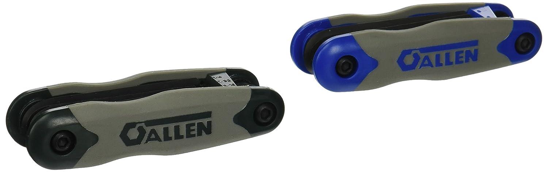 ALLEN 56632G 17-Key SAE//Metric Hex Key Fold-Up Set