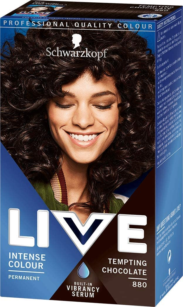 Schwarzkopf Live Intensivo color 880 tentador Chocolate tinte de pelo