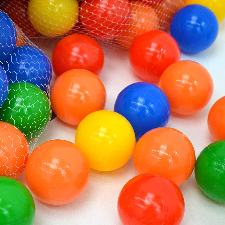 LittleTom 100 Balles color/ées /Ø 7cm Extra Durables pour Piscine /à Boules b/éb/és