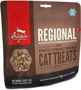 ORIJEN Freeze Dried Cat Treats, Grain Free, Natural & Raw Animal Ingredients, Regional Red, 1oz