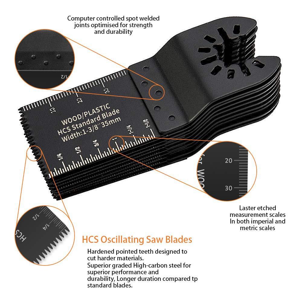 Dewalt ELECTRAPICK 28Piezas Accesorios para Herramientas Oscilantes Multifunci/ón Hojas de Sierra Universal Para Bosch Makita Corte esquinas de madera//azulejo//clavo