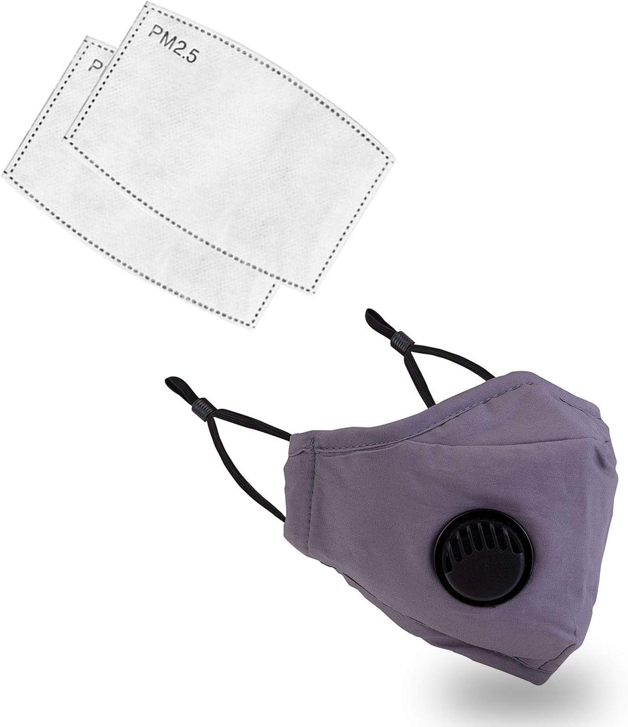 Trimming Shop Filtro de carbón Activado Unisex Máscara de protección Facial Transpirable Protección bucal y caspa para Mascotas, Otros irritantes transportables por Aire, Gris