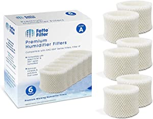 Fette Filter - Humidifier Wicking Filters Compatible with Honeywell HAC-504AW, Filter A for Models HAC-504, HAC-504AW, HCM 350 and Other Cool Mist Models (Pack of 6)