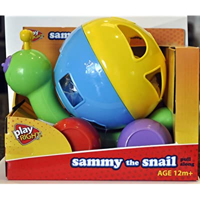 Sammy the Snail Pull Along Toy By Play Right : Push And Pull Baby Toys : Baby