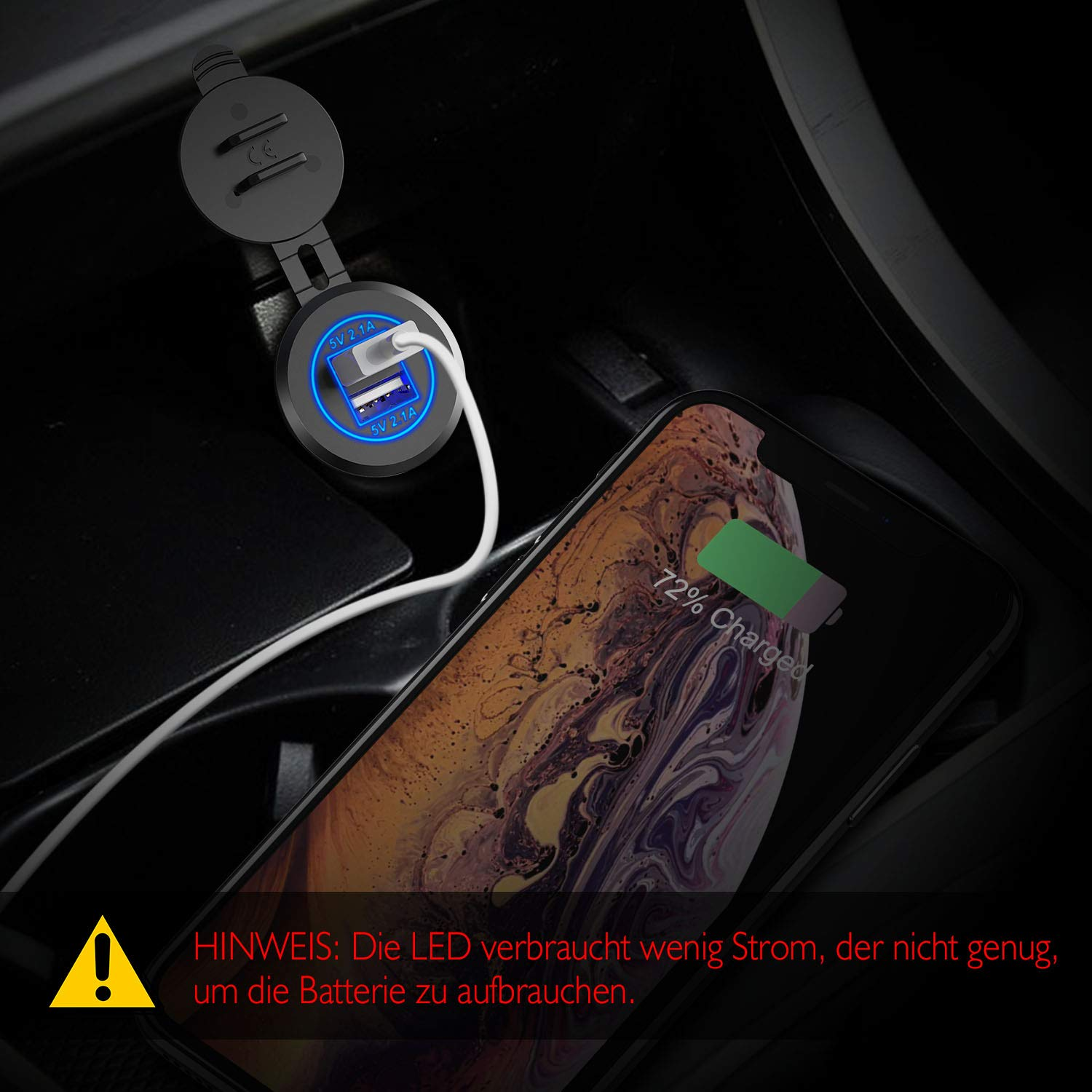 Boats and Marine SUV Motorcycle UTV etc MC1007 Truck 21W Power Outlet with 4.2A Dual Ports Car Charger Adapter for Car CHGeek 12V//24V USB Car Charger Socket