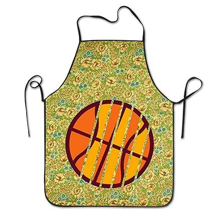 Rayas baloncesto 3 C overhand delantal personalizado Chef delantal para barbacoa para los adolescentes talla única