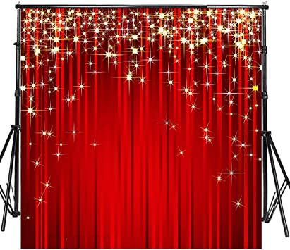 Red 8x10 FT Backdrop Photographers,Spiritual Fantasy Flower Lively Colors Cosmos Balance Traditional Print Background for Child Baby Shower Photo Vinyl Studio Prop Photobooth Photoshoot