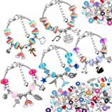 85 Pcs Charm Bracelet Making Kit, Acejoz DIY Charm Bracelets Beads for Girls Ages 7~12, Adults and Beginner Jewelry Making Ki