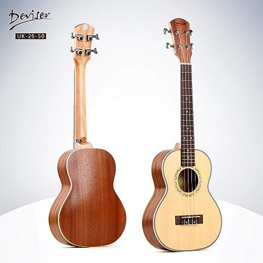 BZAHW 26 Pulgadas Ukelele pequeña de Cuatro Cuerdas de la Guitarra ...