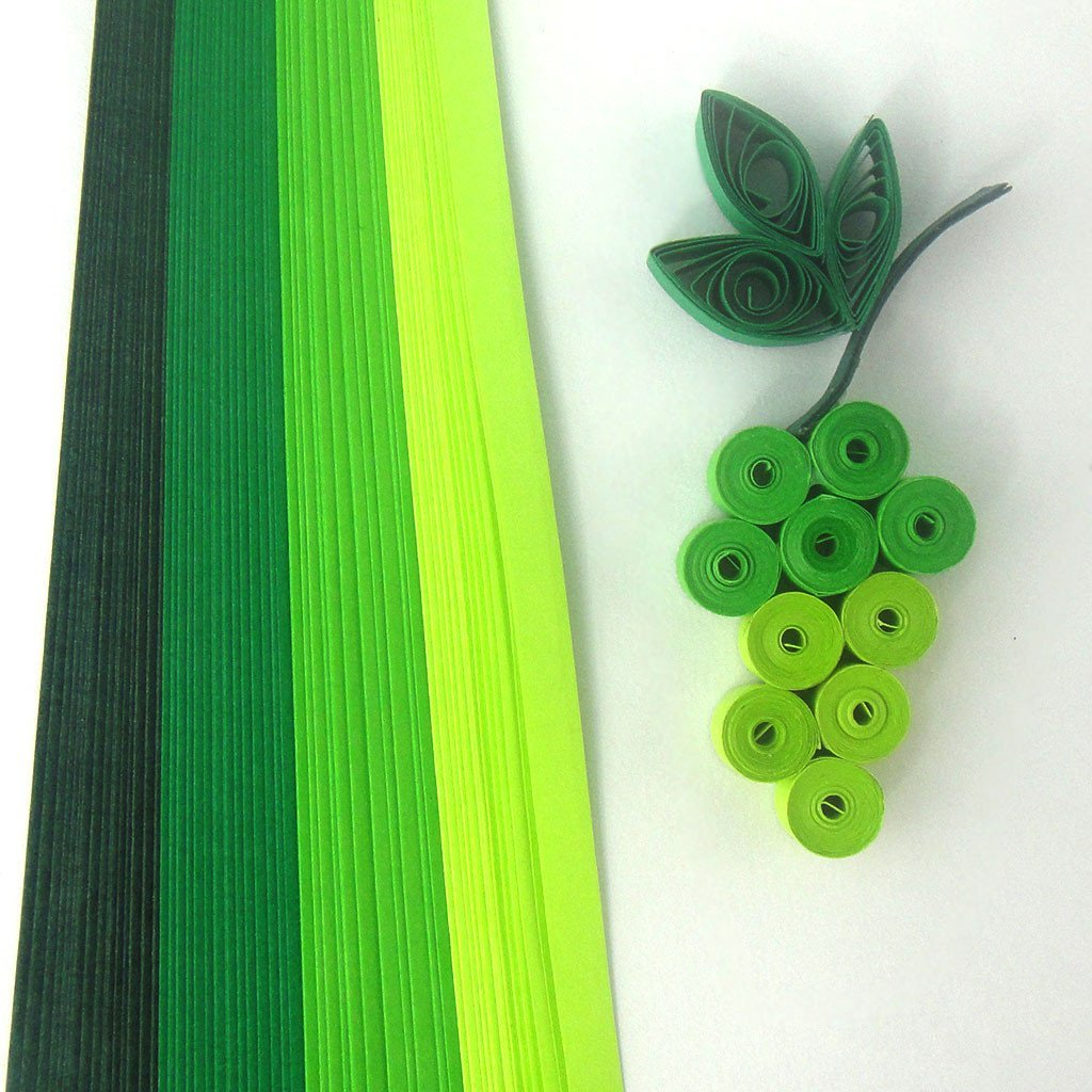Tones of Green - 5 mm - 100 Quilling Strips by Quill On (Image #1)