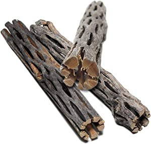 SunGrow Cholla Wood, 6 Inches Long, Dried Husk of Cholla Cactus, Excellent Food Source, Aquarium or Home Decor, for Dwarf Shrimp, Hermit Crabs, Pleco
