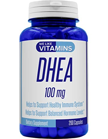 DHEA 100mg 200 capsules - Best Value 200 Day Supply of DHEA Capsules - Helps with
