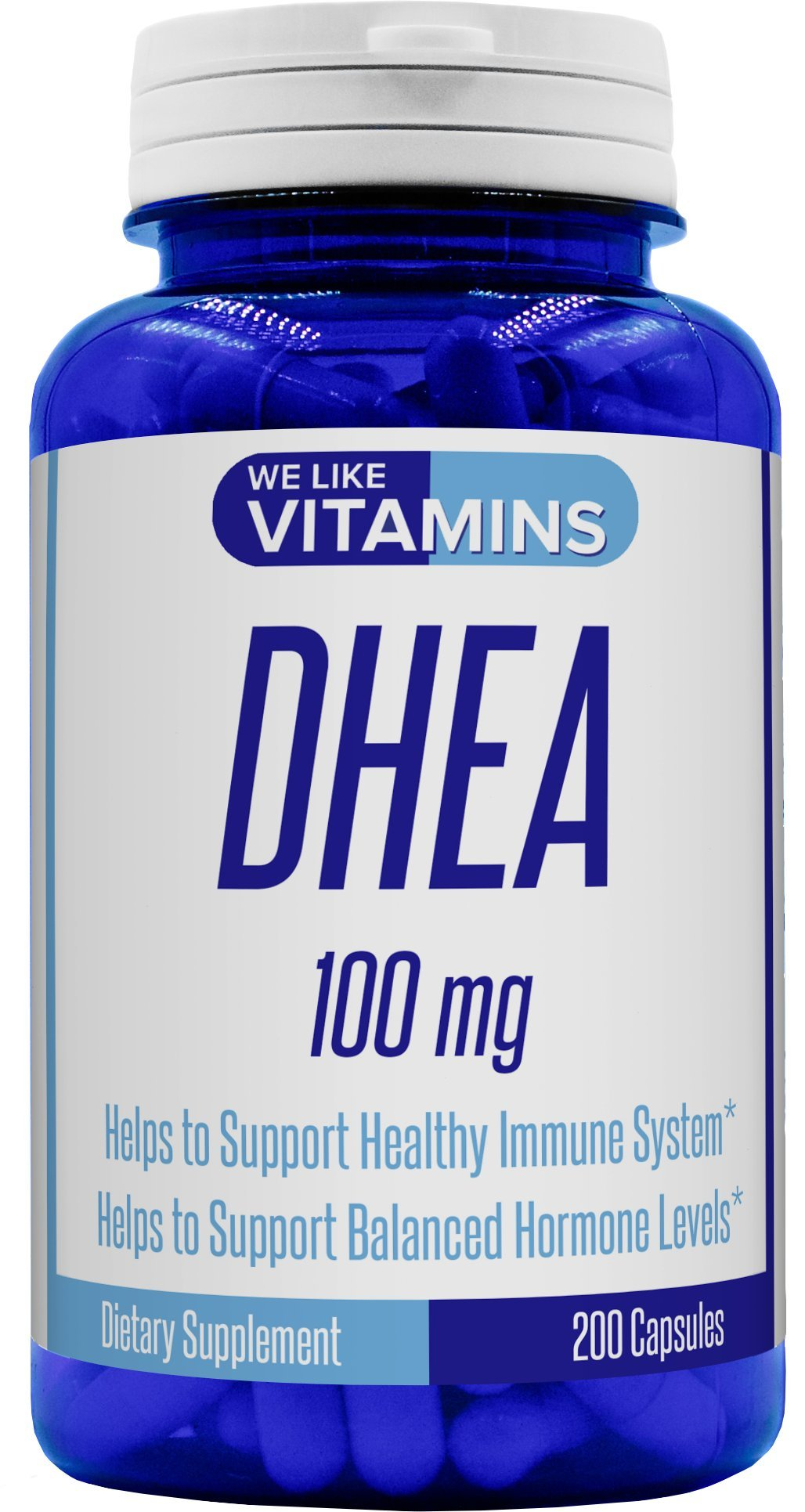 DHEA 100mg 200 capsules - Best Value 200 Day Supply of DHEA Capsules - Helps with Hormone Balance and Energy Levels for Men & Women