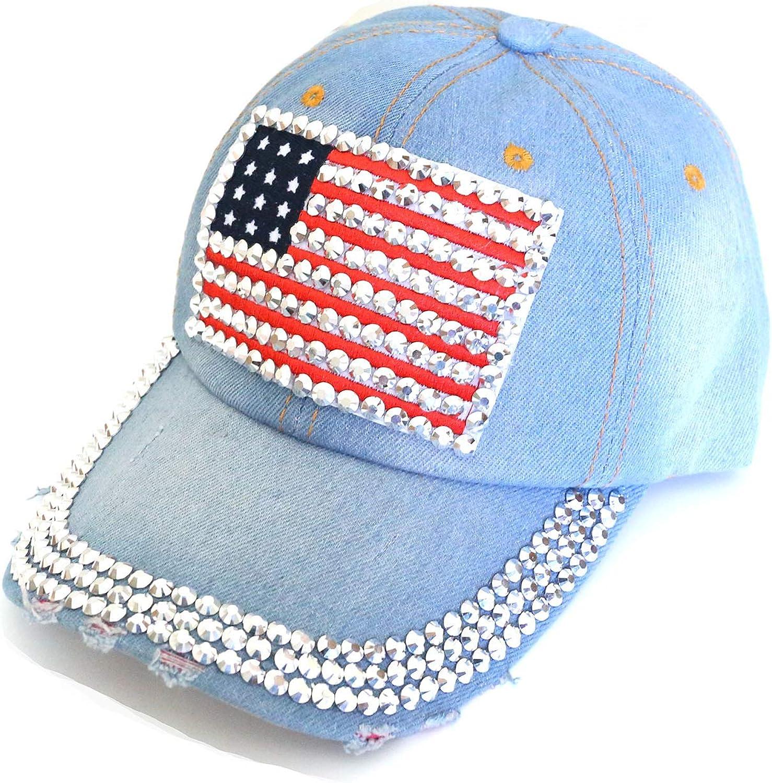 Flag Baseball Cap Sparkle...