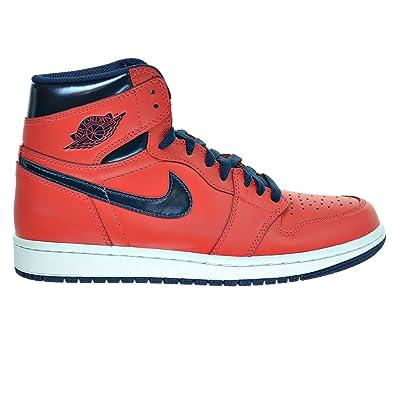 size 40 23ea7 b270a Nike Jordan Men s Air Jordan 1 Retro High OG Basketball Shoe Light  Crimson Blue 7.5 D(M) US  Amazon.in  Shoes   Handbags