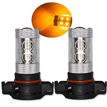 PSY24 W ámbar naranja bombillas LED luces indicadores LED CREE Canbus Xenon ea6l5: Amazon.es: Coche y moto