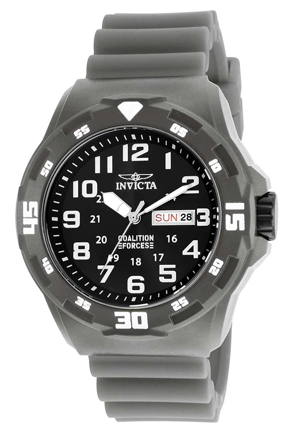 Amazon.com: Invicta Men's 'Coalition Forces' Quartz Stainless Steel and  Silicone Casual Watch, Color:Grey (Model: 25325): Invicta: Watches
