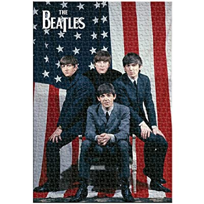 Aquarius The Beatles Fab Four American Flag '64 Tour 1500 Pc Jigsaw Puzzle: Toys & Games