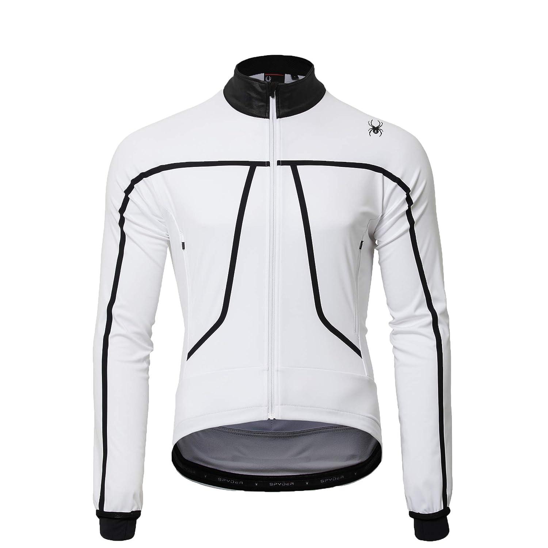 (スパイダー) Spyder Men`s 3 Layer Cross-Reflex Cycle Jersey メンズサイクルジャージ (並行輸入品) B07KWVN46B L|ホワイト ホワイト L