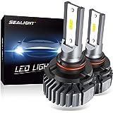 SEALIGHT 9005 HB3 LED Headlight Bulbs, Fanless 6000K White, Easy Installation, High Beam 9145/H10 Fog Lights, Halogen…