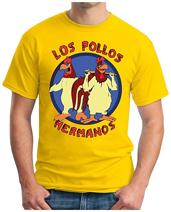 OM3 - LOS POLLOS HERMANOS - T-Shirt Crystal Meth Cook Walter Breaking  Parodie Geek Fun USA Geek, S - 5XL: Amazon.de: Bekleidung