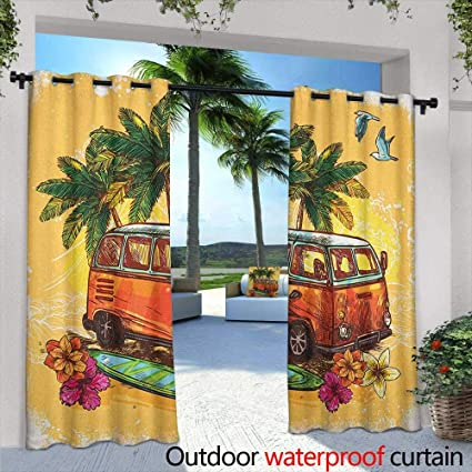 Amazon.com: Surf - Cortina para ventana con ojales al aire ...