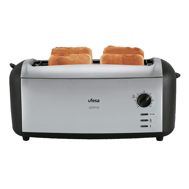 Ufesa TT Tostadora Master Toast color negro y plata