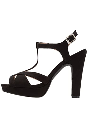 Femme chaussures escarpin boucle décoration noir 39 ZwPJKXE62