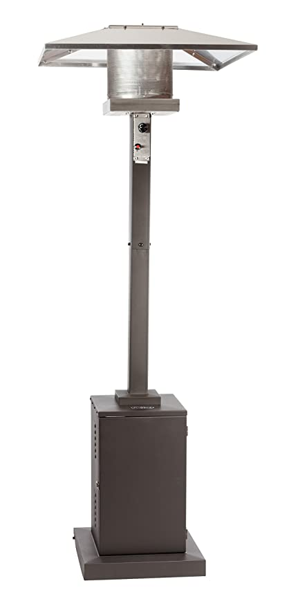 Golden Flame Square 46,000 BTU Matte Mocha [XL Series] Commercial Patio  Heater With