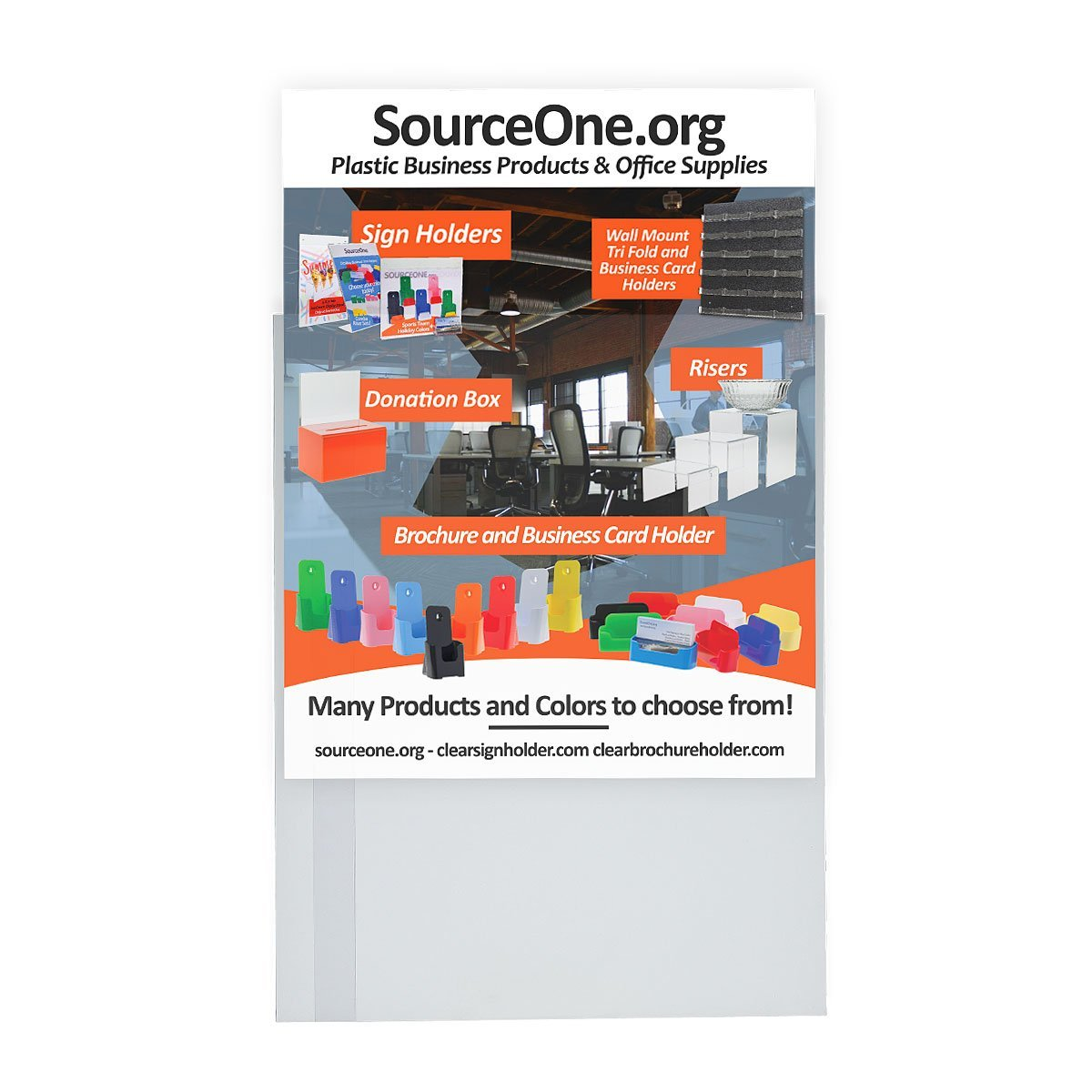 Amazon source one 8 12 x 11 inches peel and stick sign amazon source one 8 12 x 11 inches peel and stick sign holder clear acrylic no drilling pack of 6 office products magicingreecefo Gallery