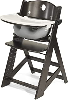 product image for Height Right HIGH Chair Espresso with Grey Infant Insert and Tray