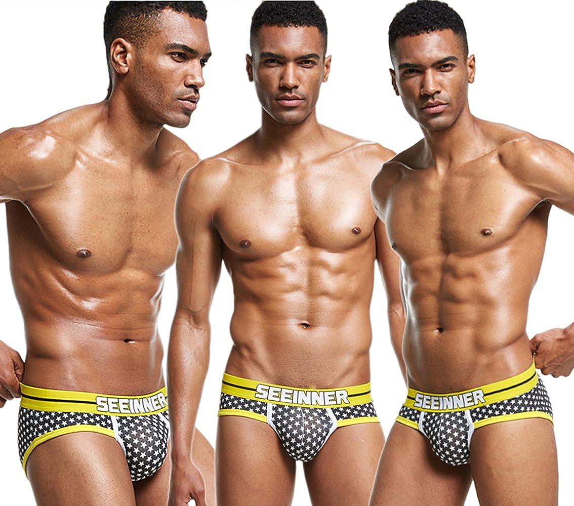 Yeke Men Underwear Underpants Boxer Cotton Pattern Dot Trunk Shorts Brief