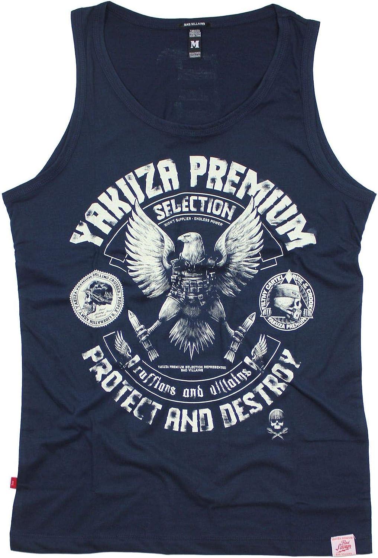 Color Azul Marino Yakuza Premium 2822 Camiseta sin Mangas para Hombre