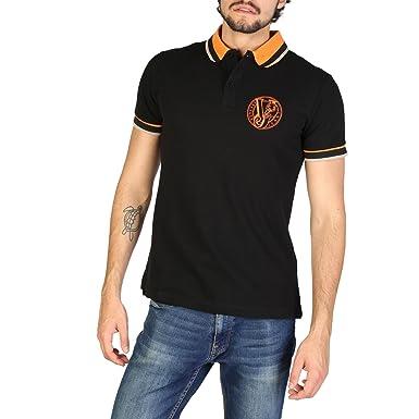53451f95787 Versace Jeans t-Shirt Manches Courtes Col Polo Homme Noir EU 48 (UK ...