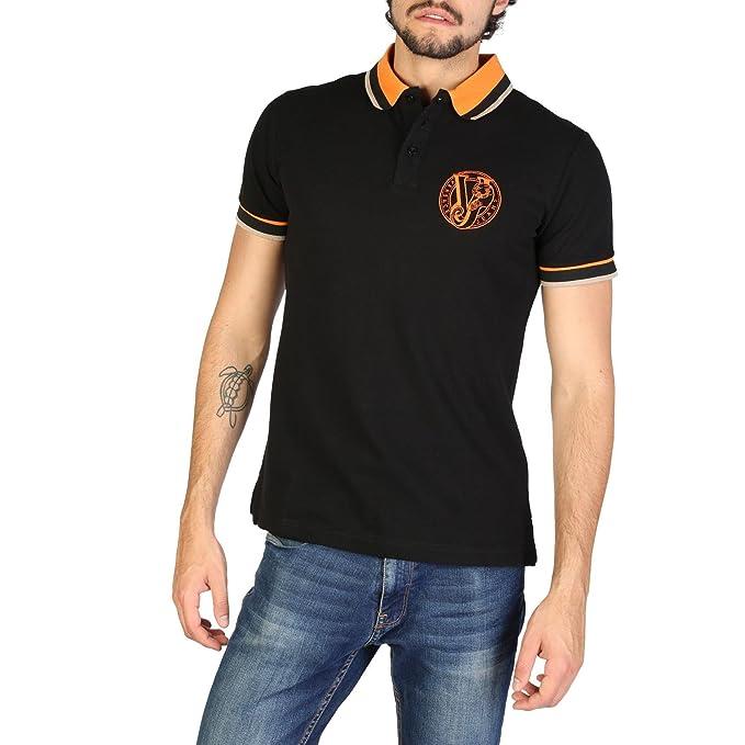 549a2f56d4b Homme 48 Versace EU Col t Courtes Jeans Shirt UK Polo Noir Manches ppnvq0r