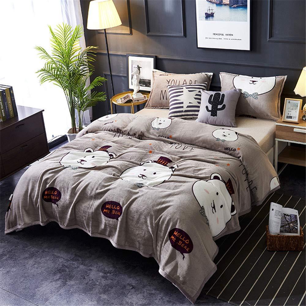 Morbuy Bedding Manta de Felpa Suave Aire Acondicionado de