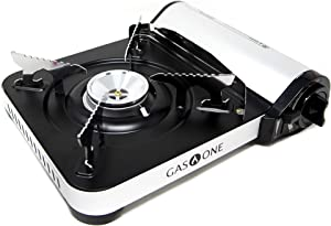 Gas ONE GS-3300 - Camp Stove - Slim Butane Stove with Convenient Carrying Case, Great for Outdoor Gas Stove and Portable Stove for All Cooking Application and Emergency Preparedness Kit