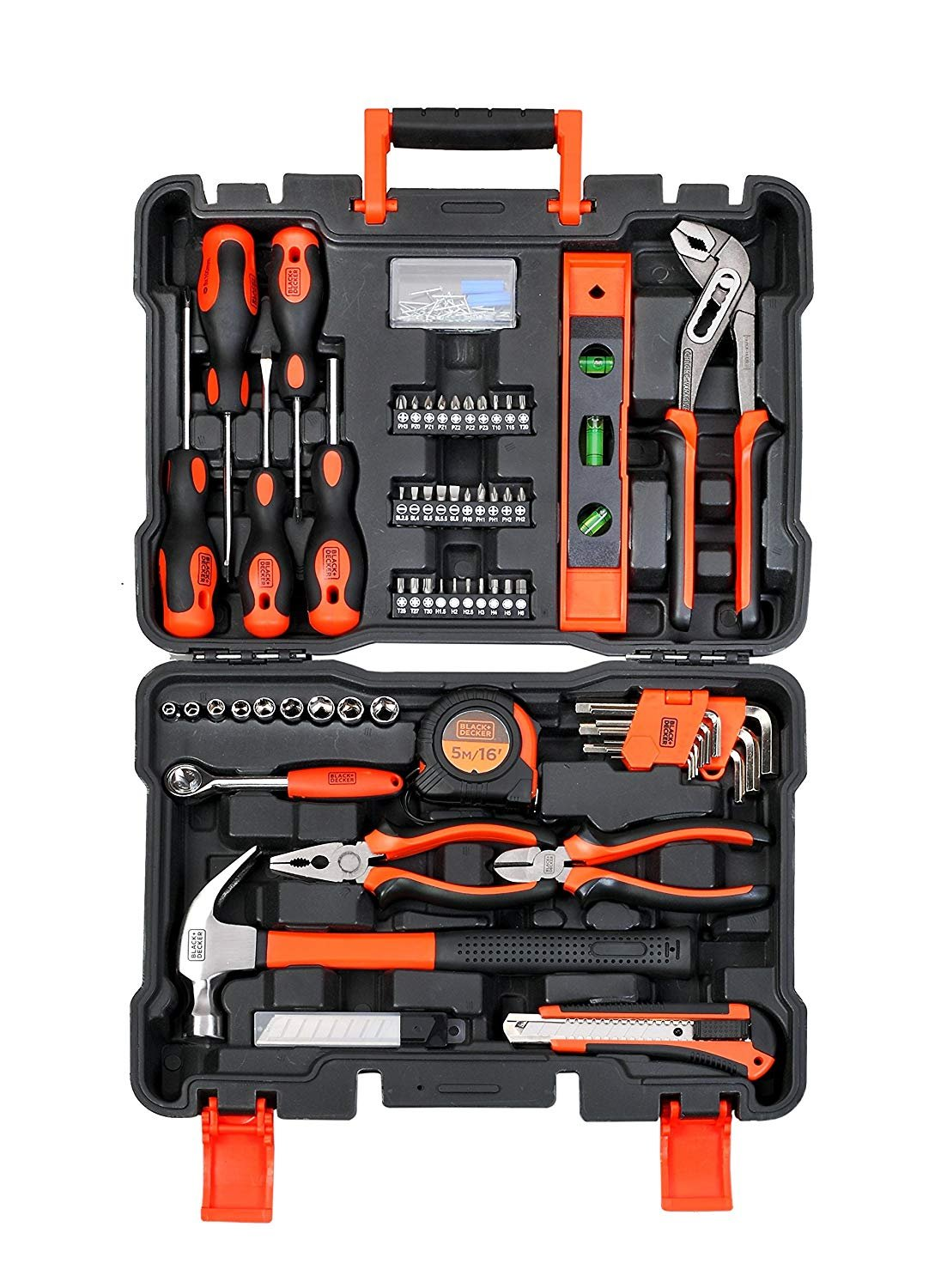 BLACK+DECKER BMT154C Professional Hand Tool Kit (154-Pieces), Orange and Black by ToolsCentre (Image #1)