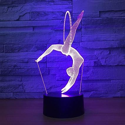 FISSEN 3D la gymnastique d'art LED Lampe d'illusion Lumière