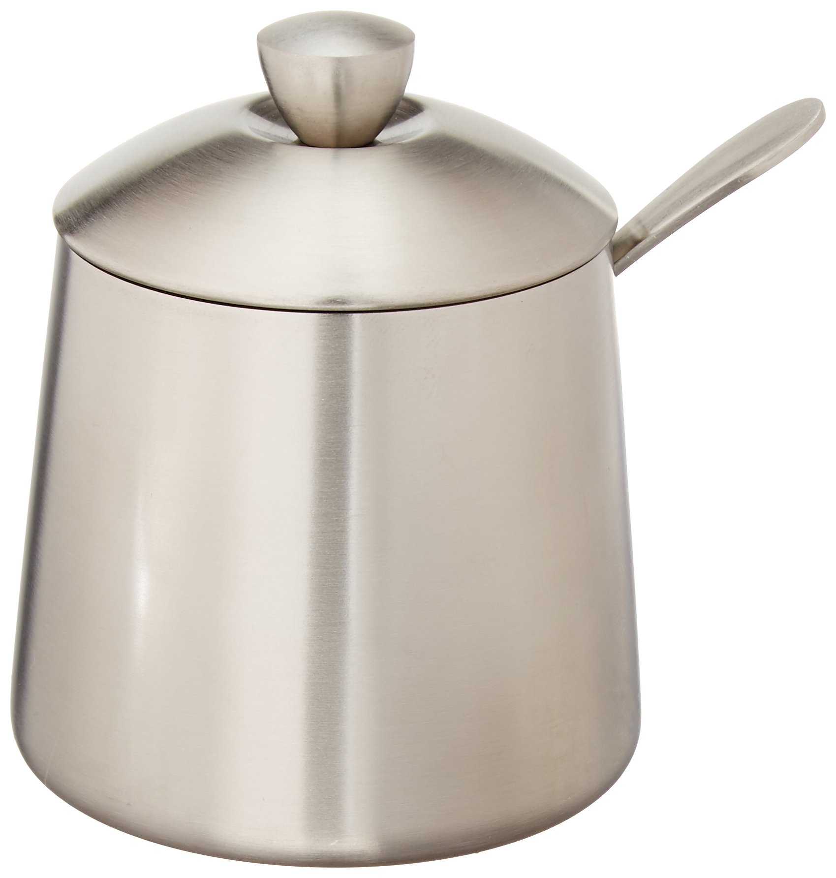 Frieling USA 18/10 Brushed Stainless Steel Sugar Bowl with Spoon
