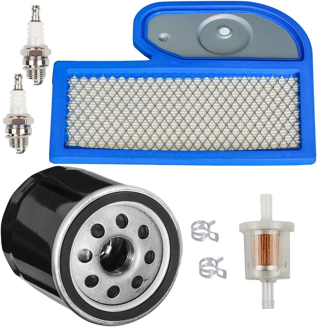 HIFROM Air Filter with Oil Filter Fuel Filter Spark Plug Tune Up Kit Compatible with Kawasaki FH451V FH500V FH531V FH580V 17hp 19hp 23hp Replacement for 11013-7002 49065-7010 49065-2071 49065-2078