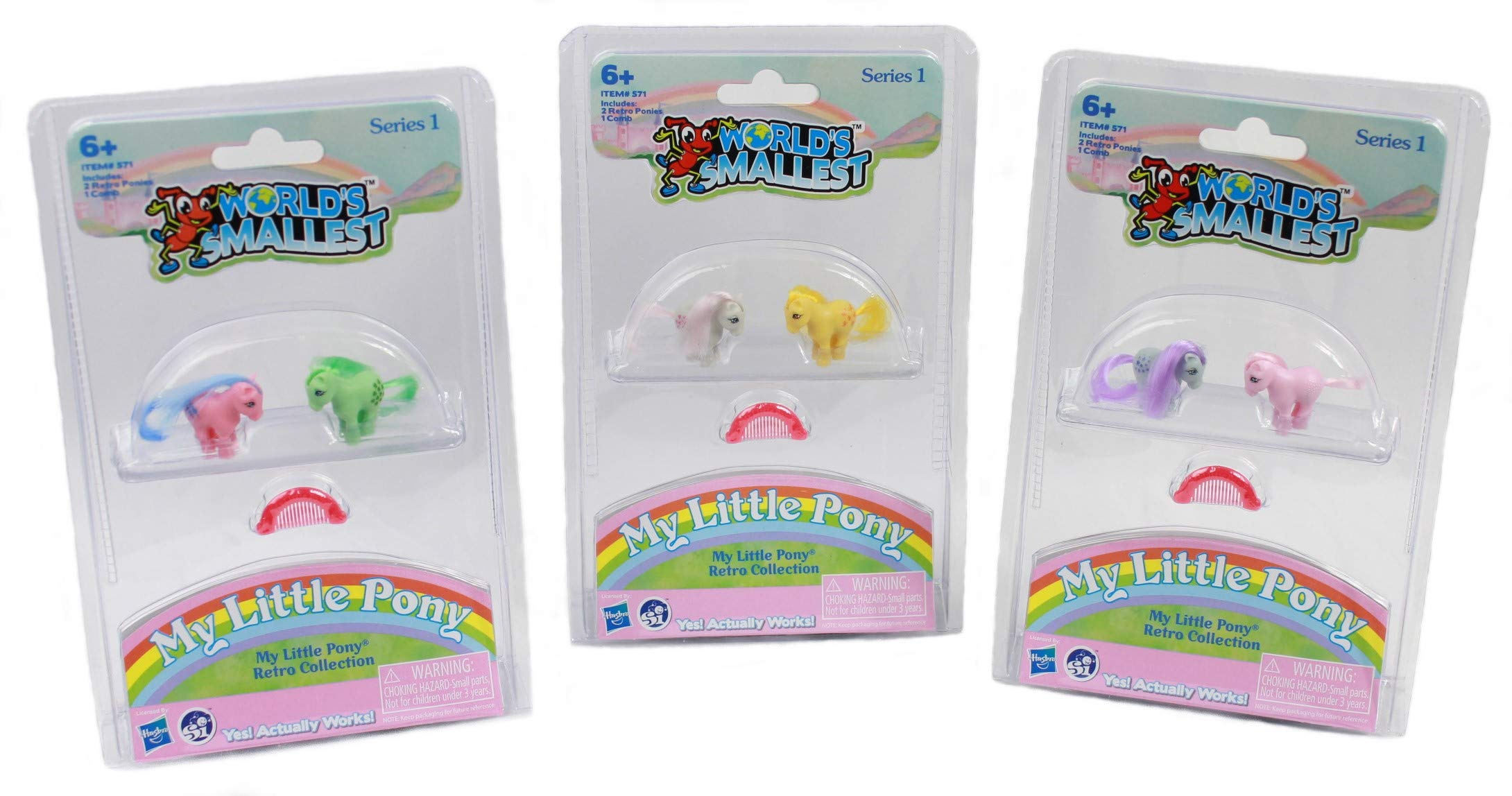 Worlds Smallest My Little Pony Retro Collection Series 1 Complete Set - Bundle