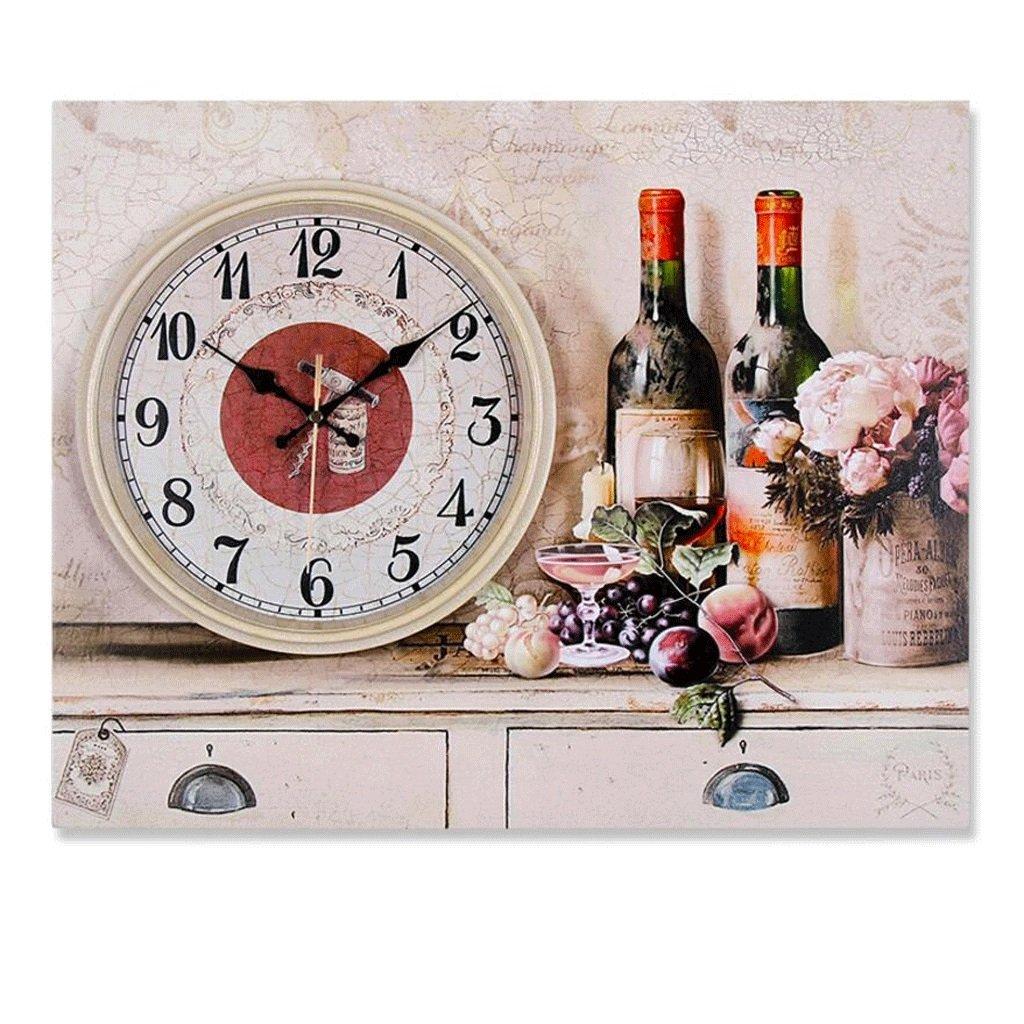 装飾的な壁時計リビングルームの時計ベッドルームミュートの絵画の時計 GAODUZI (色 : D) B07FNHJ7SF D D