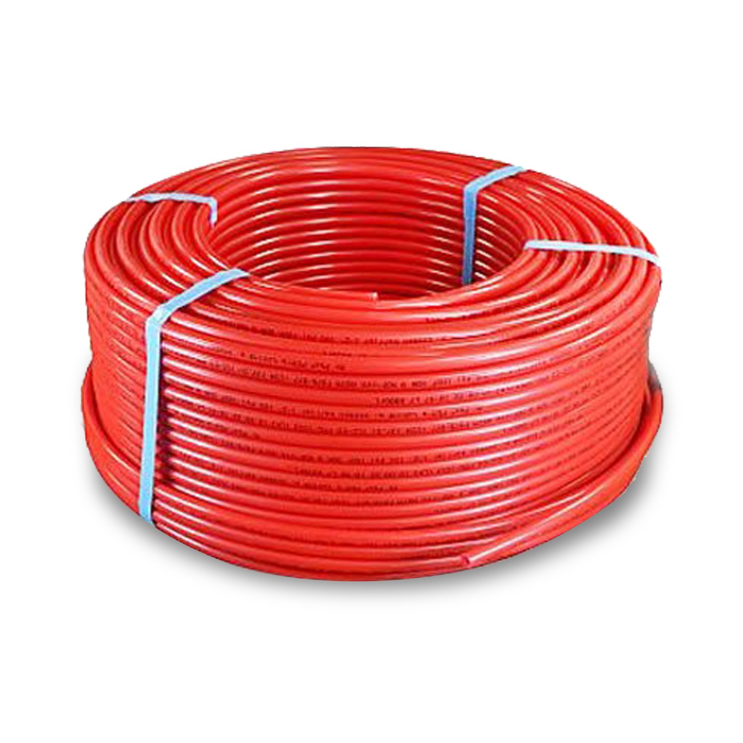 PEXFLOW PFR-R121000 Oxygen Barrier PEX Tubing for Hydronic Radiant Floor Heating Systems, 1/2 Inch, Red by PEXFLOW