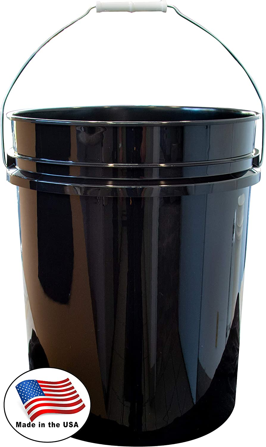 Argee RG5500BK/10 Plastic Bucket, 5 gallon, Black, 10 Pack